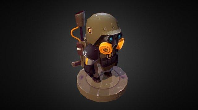 Heavy flamethrower unit 3D Model