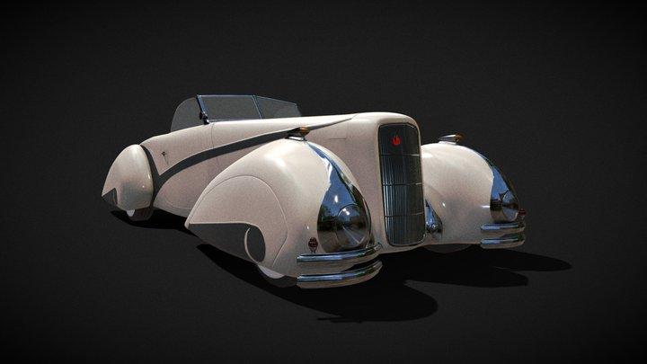 1937 Cadillac Hartmann 3D Model