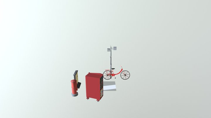 Gathered Objects 3D Model