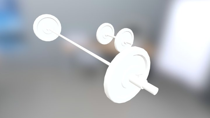 Barbell and dumbell 3D Model