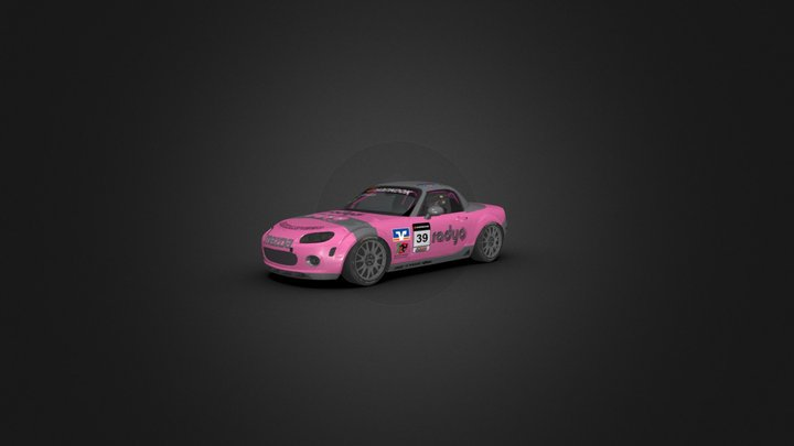 Mazda MX5 Race Car 3D Model