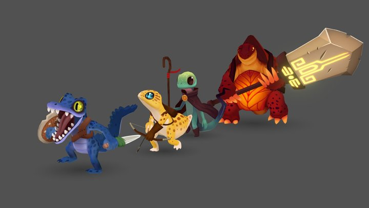 Lizard Squad 3D Model