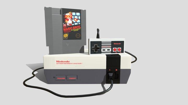 Nintendo Entertainment System 3D Model