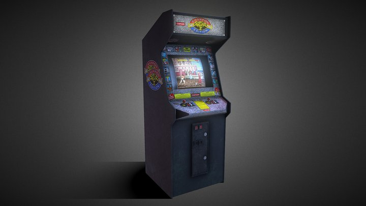 Street Fighter 2 Champion Edition Arcade Machine 3D Model