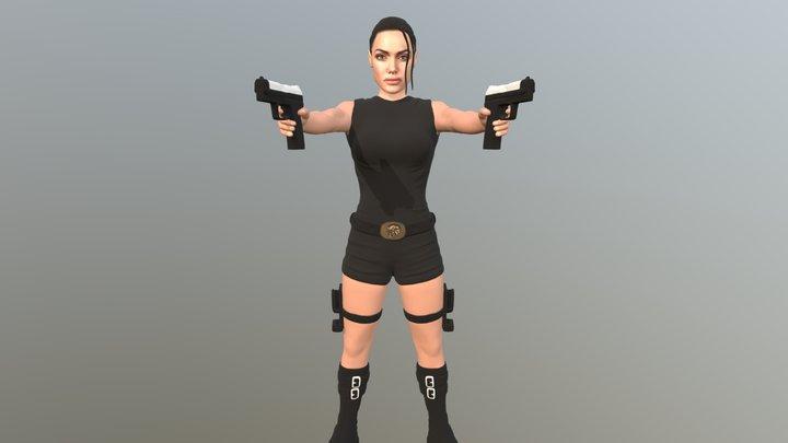 Lara Croft for full color 3D printing 3D Model