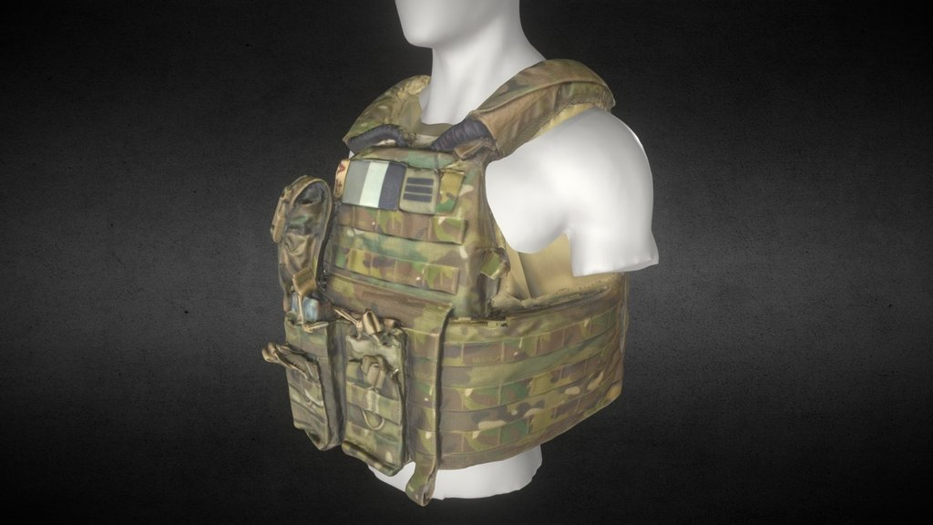 Military Vehicles For Sale >> Bulletproof Vest 1 - 3D model by Fabulous 3D (@albinmerle) - Sketchfab