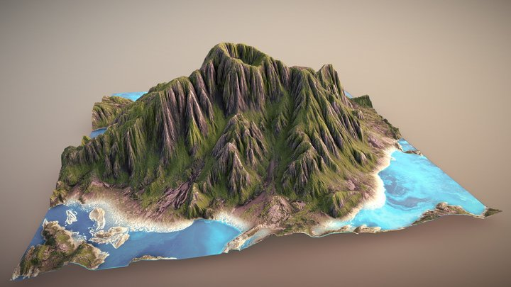 Dormant Volcano 3D Model