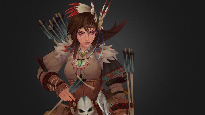 American Archer 3D Model