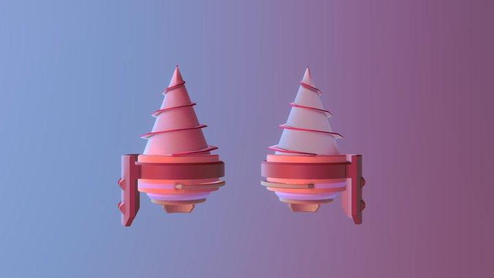 Dual wield drills 3D Model