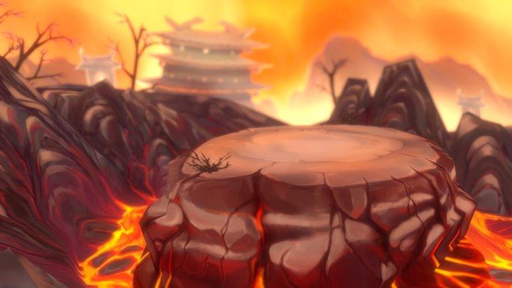 Fire Mountain Battleground 3D Model