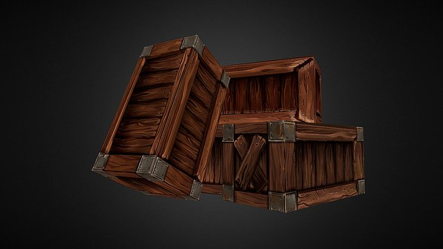 Crate Collection 3D Model