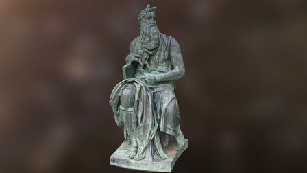 Bronze Moses at Augustana University 3D Model