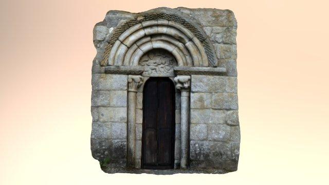 Portada de San Miguel do Monte (Chantada) 3D Model