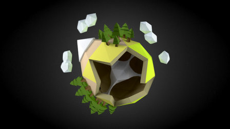 Lowpoly planet - Minilife 3D Model