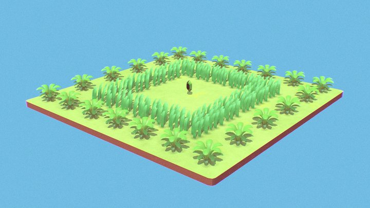 Link's Awakening - Rupee & Grass 3D Model
