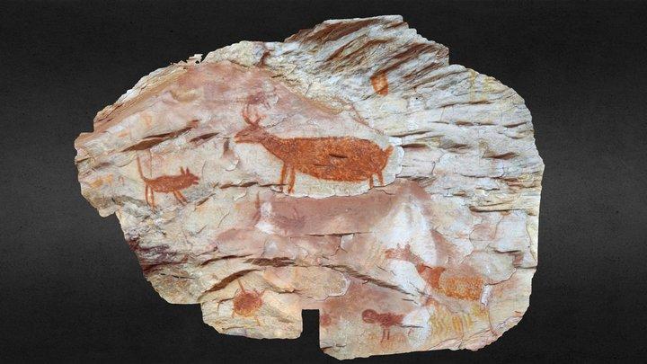 Pedra Pintada - Painel do Abrigo 2 3D Model
