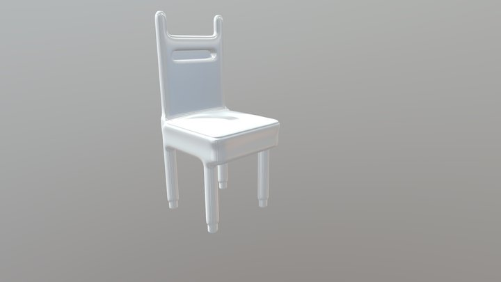 Simple Chair (ready for print) 3D Model