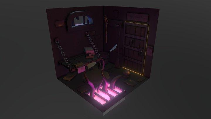 Textured Fantasy Cell 3D Model