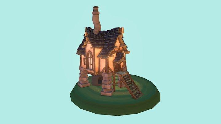 2DAE1_De_Wit_Tieme_Old House 3D Model