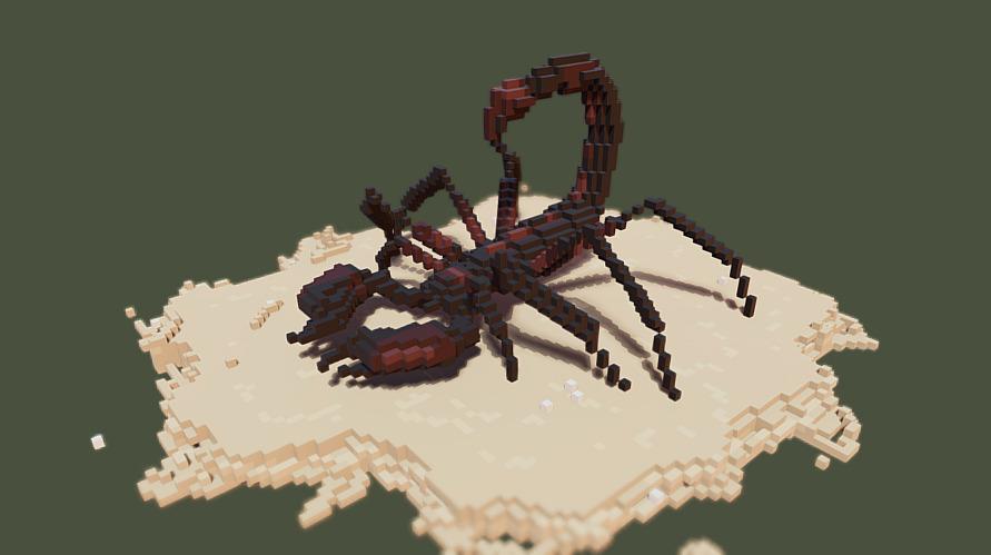 майнкрафт статуя скорпиона #6