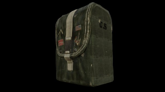 Post-War US Military Pouch 3D Model