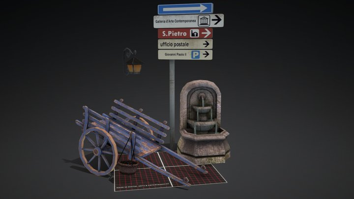 Objects of Assisi - 3D Low Poly Q-Week 1 3D Model
