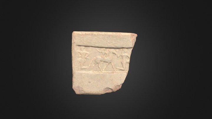 Terracotta Revetment Fragment (AT62) 3D Model