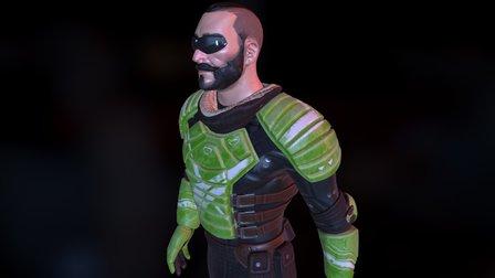 Riker - Unreal Tournament Fan Art 3D Model
