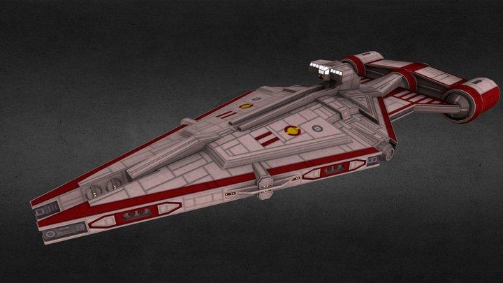 Republic Arquitens-class Escort Ship 3D Model