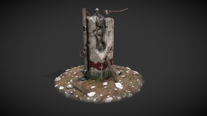 Concrete Pillar 3D Model