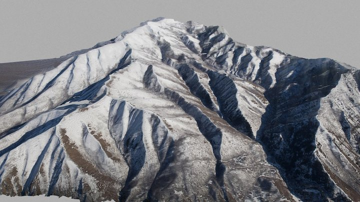 Portion of Wasatch Range 3D Model