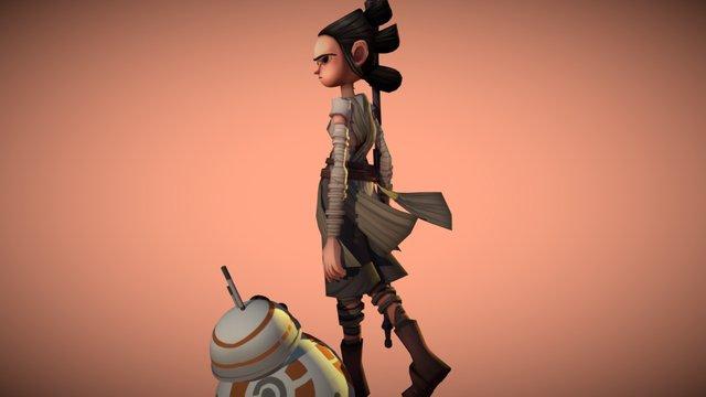 Rey - Star wars 3D Model