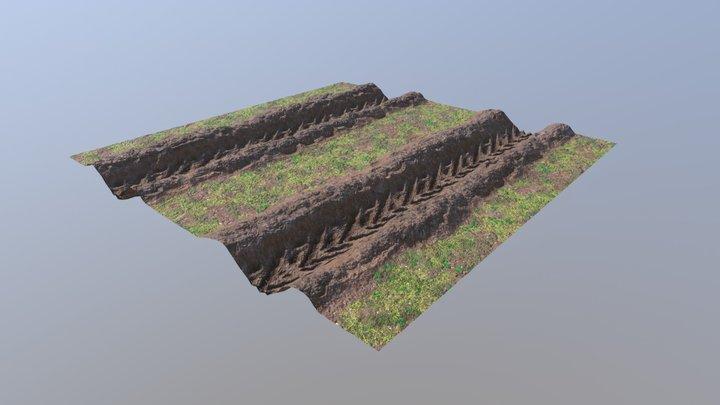 TireTrack Material 3D Model