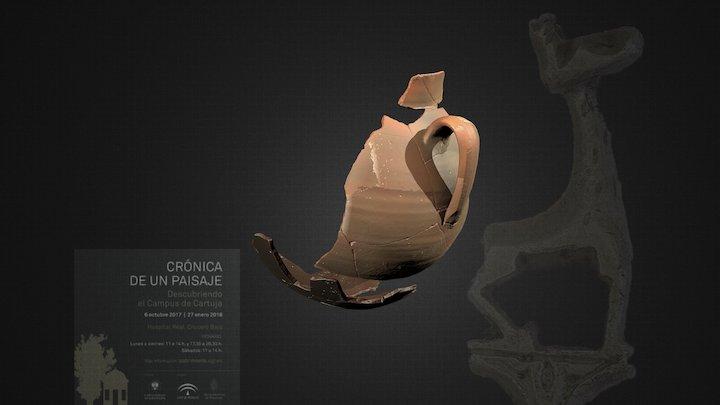 Jarra vidriada de época musulmana 3D Model