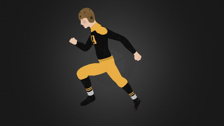 Football Character - Game Ready - Low Poly 3D Model