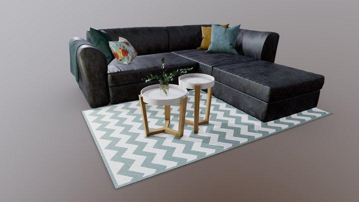 Sofa Livingroom Set 3D Model