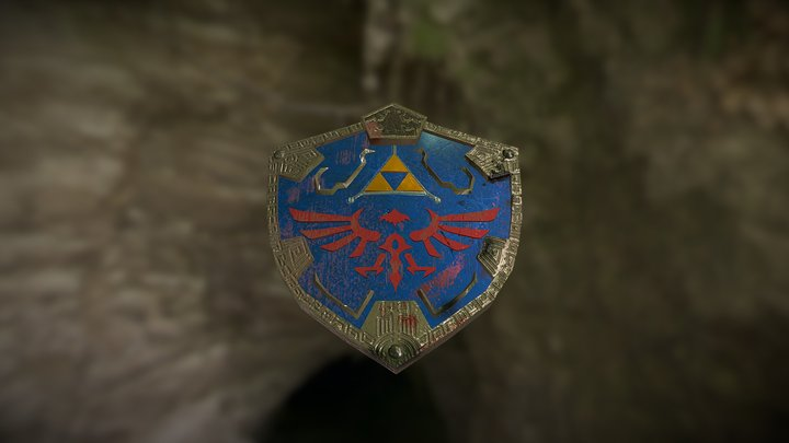 Hylian Shield V2 3D Model