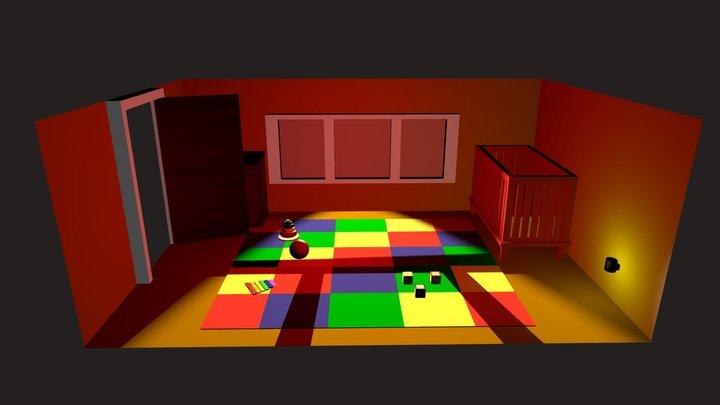 Haunted Kids room 3D Model