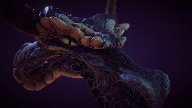 Dragon Portrait 3D Model