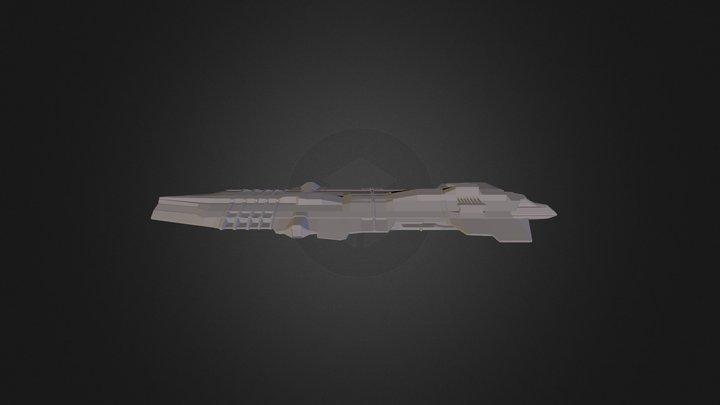 Chopped Battlecruiser 3D Model
