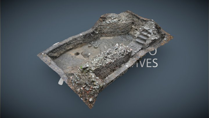 Burg   Grabungsfläche F02 #4 3D Model