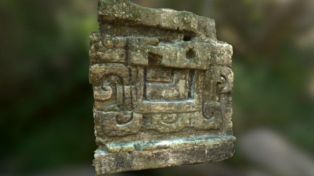 Tikal building ornamentation 3D Model