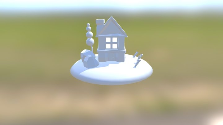 Cottage LowPoly 3D Model