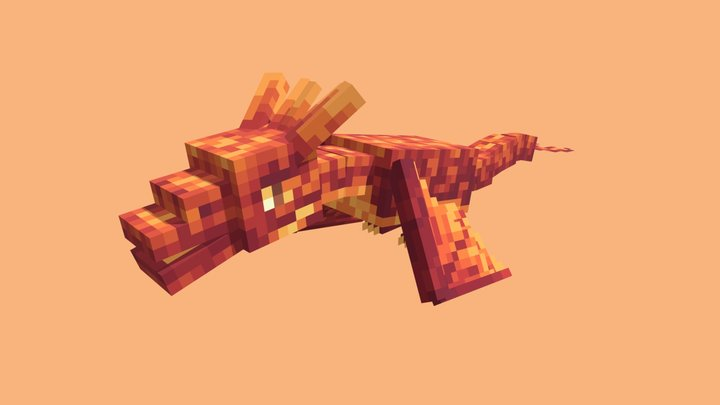 Minecraft Wyvern 3D Model