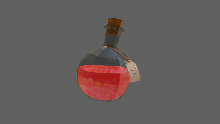 Health Potion Flask 3D Model