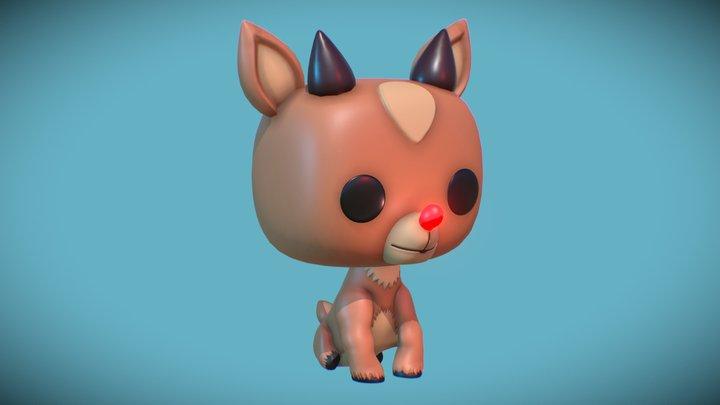 #3December #Day6 Funko Rudolph 3D Model