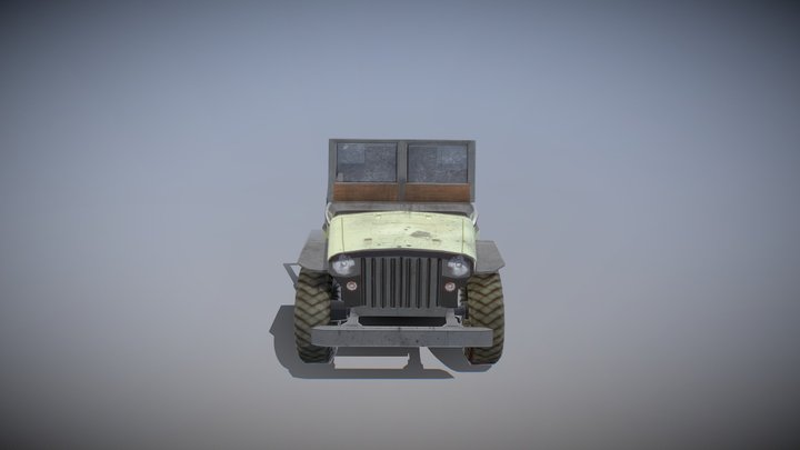 Willy's Jeep 3D Model