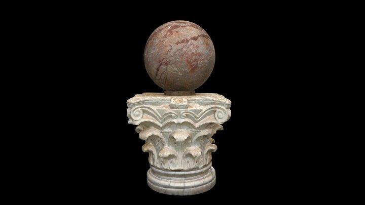 Column Capital and Marble Orb 3D Model
