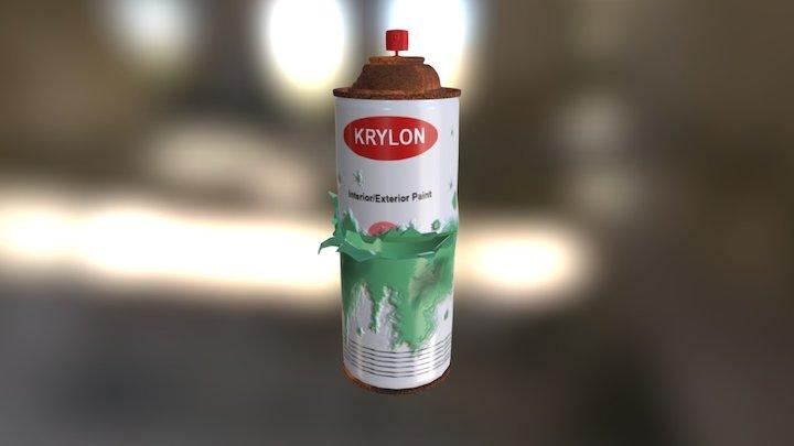 Spray Paint Can 3D Model