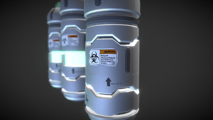 Bio Weapon Canisters 3D Model